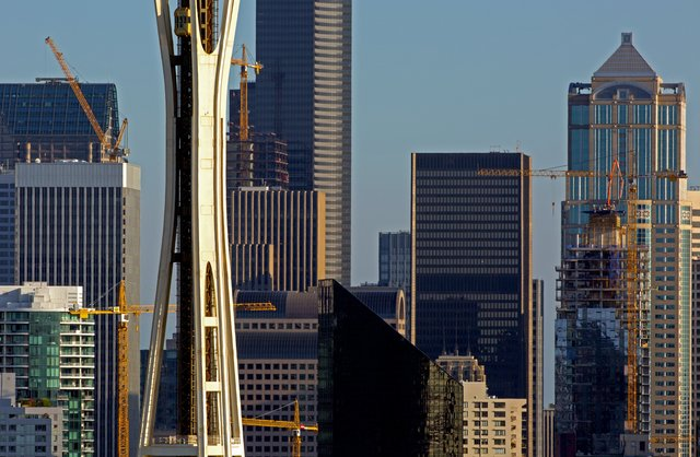 Seattle skyline is tops in construction cranes — more than any other U.S. city